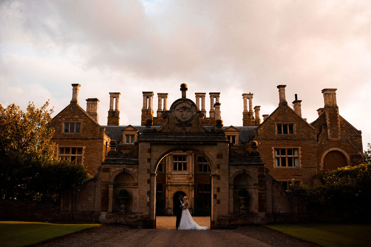 Behind the scenes shot of a wedding photo taken at Holdenby house