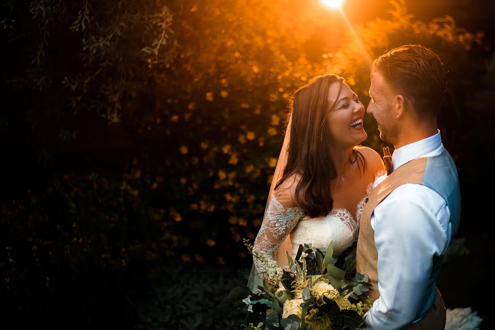 Magmod CTO sunset wedding portrait